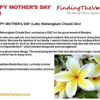 HAPPY MOTHER's DAY (Late) Wahengbam Chaobi Devi