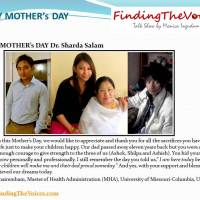 HAPPY MOTHER's DAY Dr. Sharda Salam