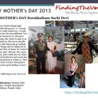 HAPPY MOTHER's DAY Sorokhaibam Sachi Devi
