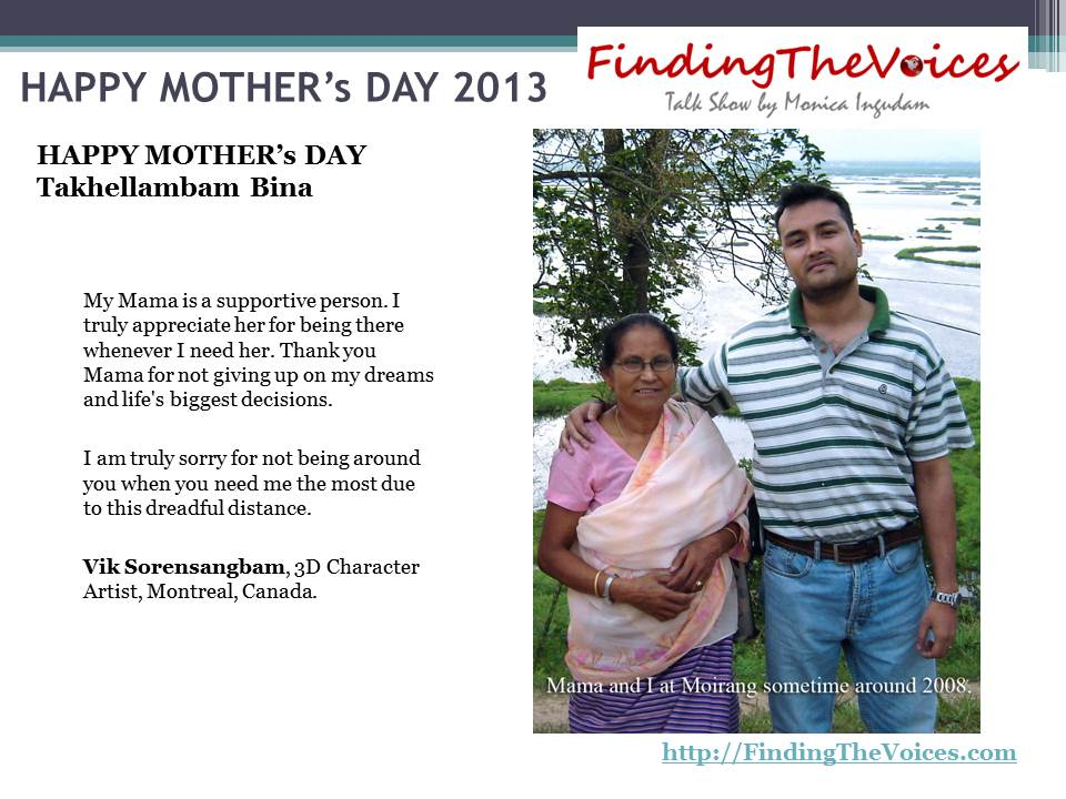 FindingTheVoices Mother's Day 2013 Vik