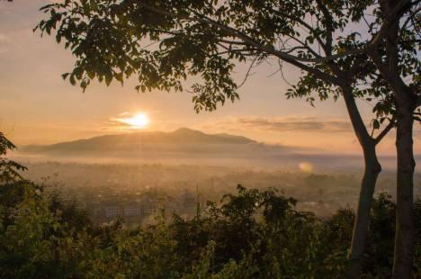 Sunrise from Baruni ching, taken from cherao ching