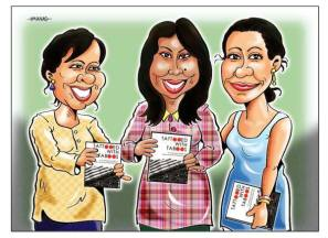"Sharing a cartoon by our special Guest speaker Manas Maisnam for our featured Guest Speakers, authors of the book ""Tattooed with Taboos"""