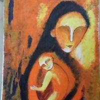 Ema, an acrylic painting