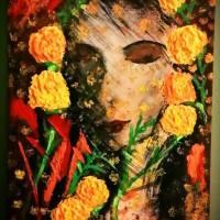 The Sanarei Lady, an acrylic painting