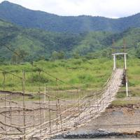 A Bamboo Bridge at Sekmai, Manipur.