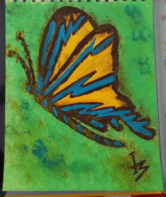butterfly_lifeisshort_PaintingbyMonicaIngudam