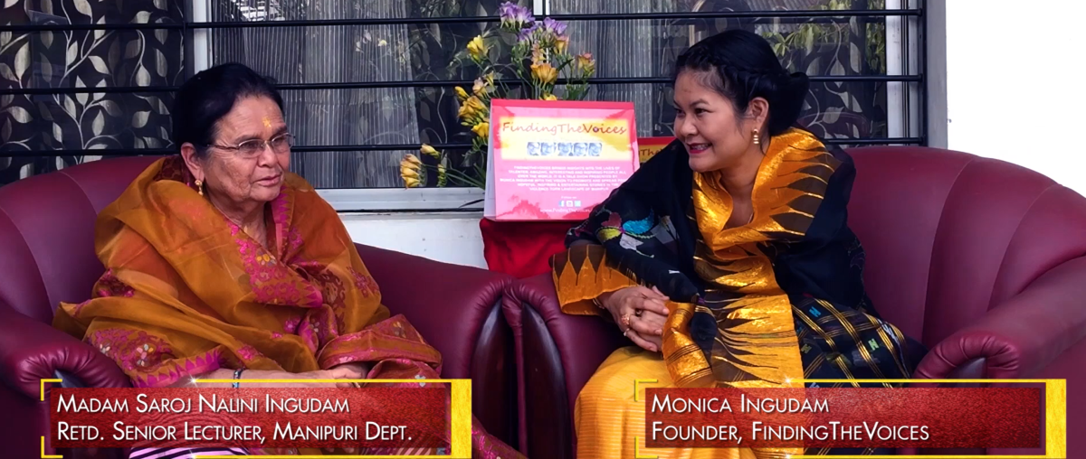 S03E35 FindingTheVoices with Madam Saroj Nalini Ingudam talking about the art form of Banana leaves in Manipur. (Part 1)