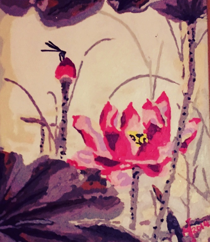 Acrylic painting by Monica Ingudam