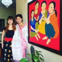FindingTheVoices with Laishram Meena Devi, artist from Manipur.