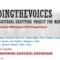 "S05E01 ""1001 Thagatchari"", Gratitude project for Manipur. #1MaryKom #2NaoremSanajaoba #3BablooLoitongbam #998ToGo"