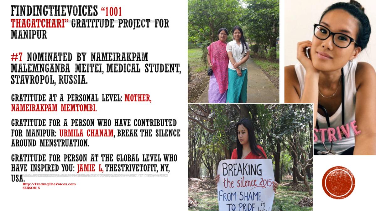 "S05E05 ""1001 Thagatchari"", Gratitude project for Manipur. #7UrmilaChanam #994ToGo"